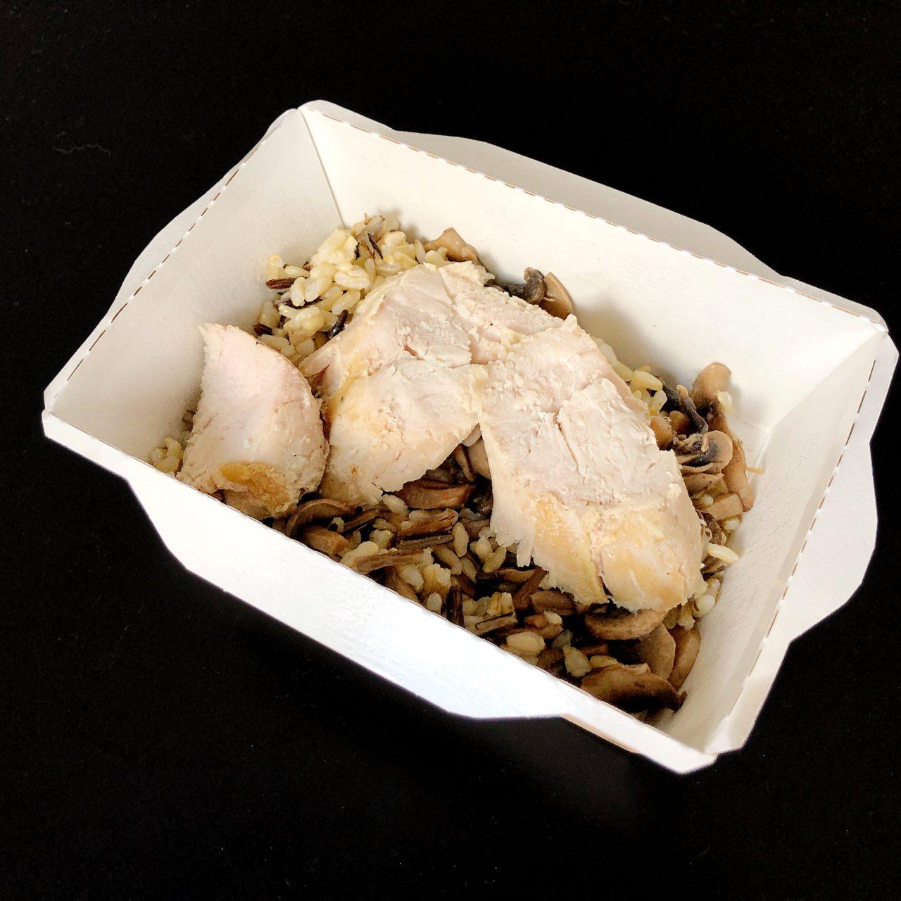 Рис с шампиньонами и курицей су-вид