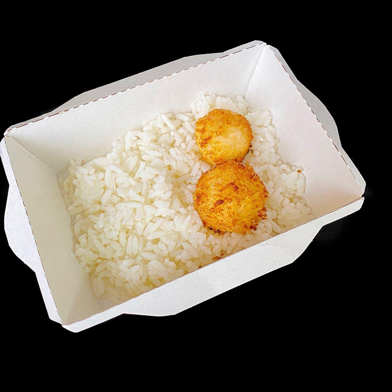 Крокеты из кальмара с имбирным Айоли и длиннозерновым рисом