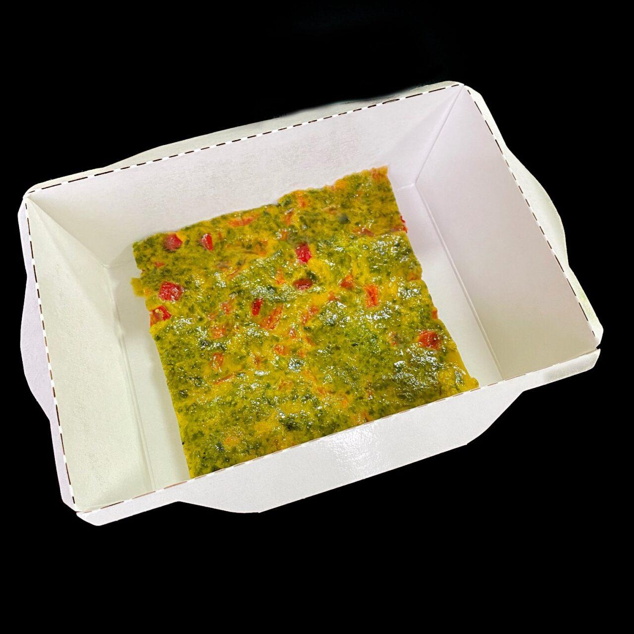 Омлет со шпинатом, брокколи и болгарским перцем