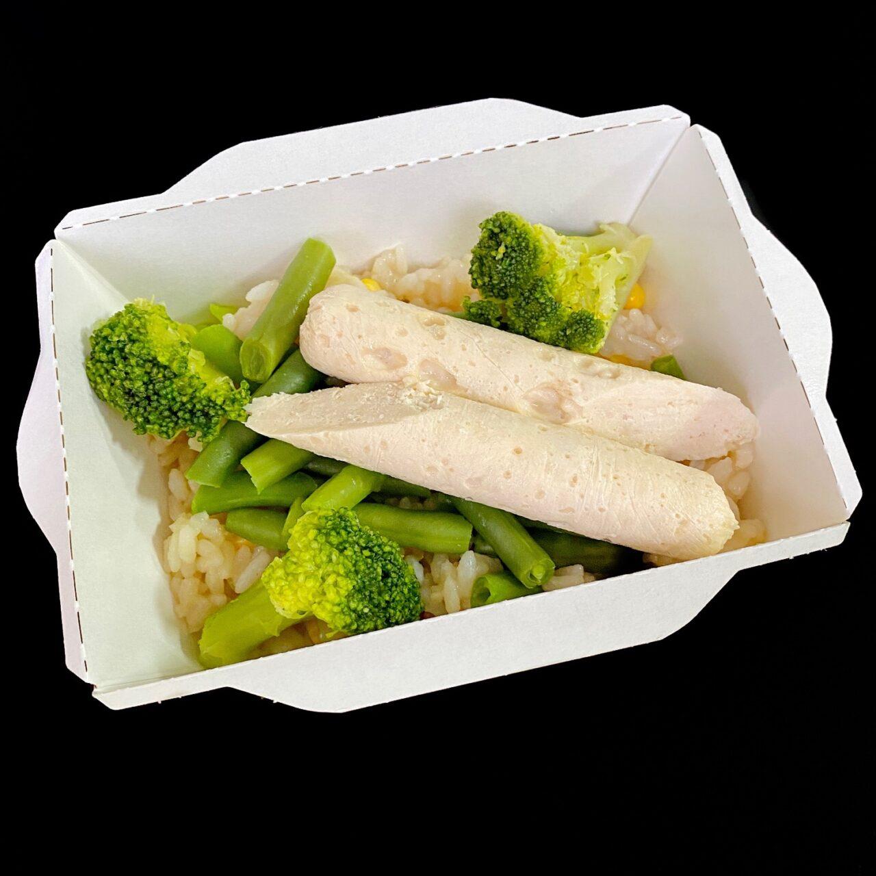 Суфле из курицы с рисом и овощами