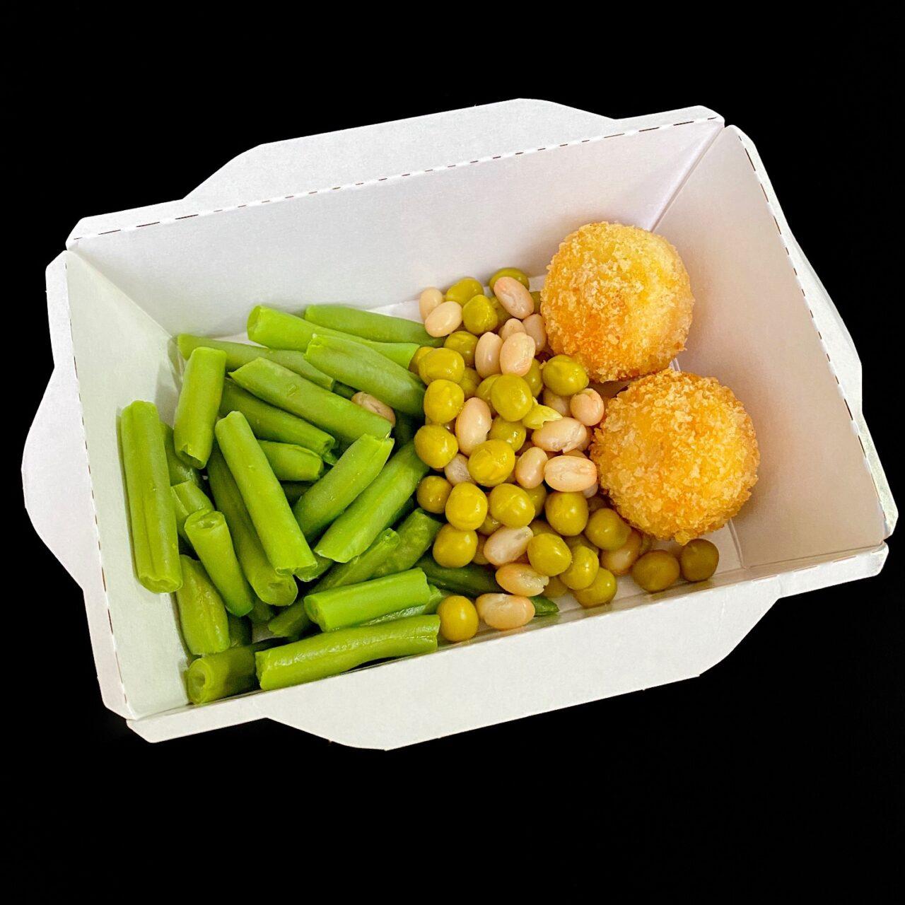 Крокет из морепродуктов с овощами