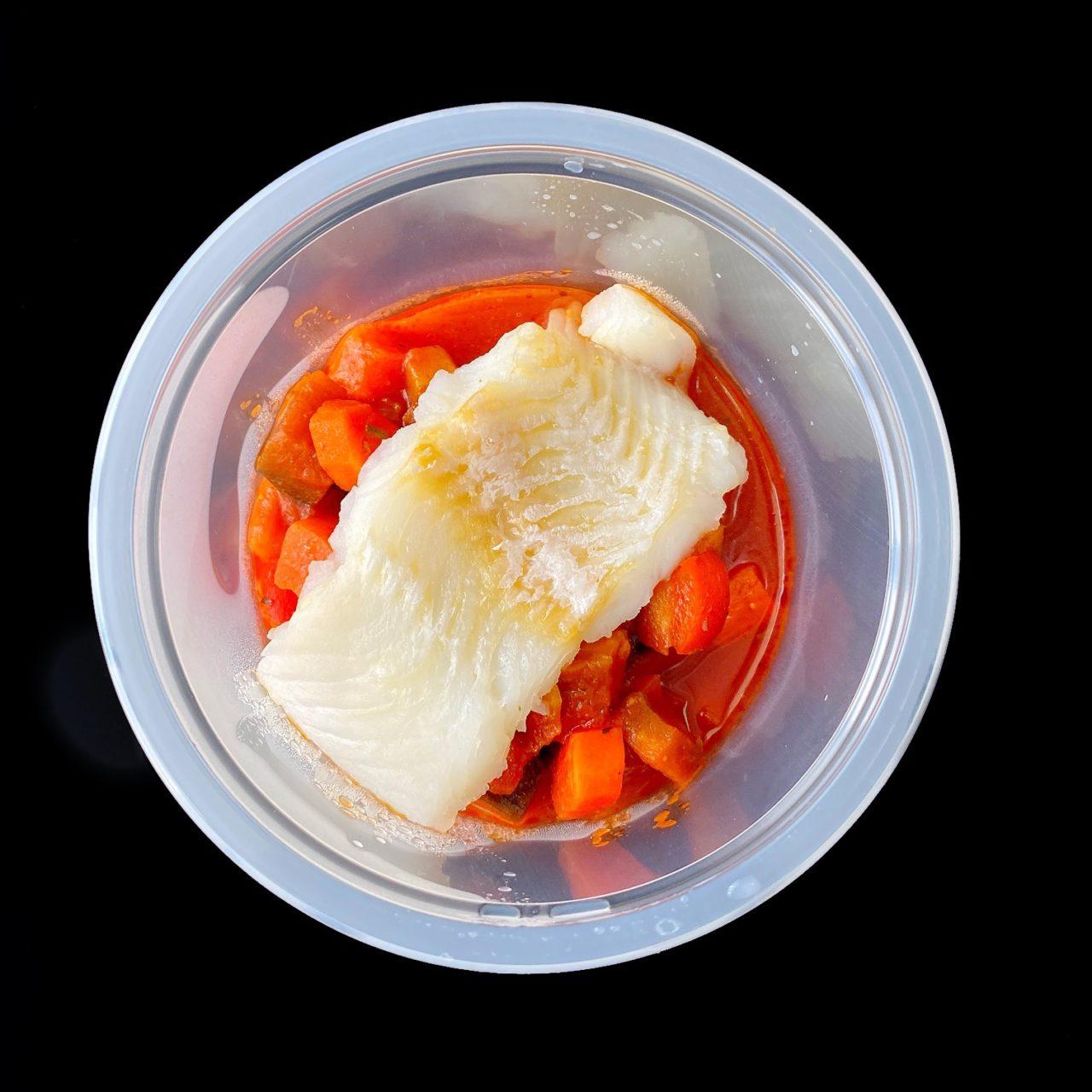 Овощная капоната с рыбой