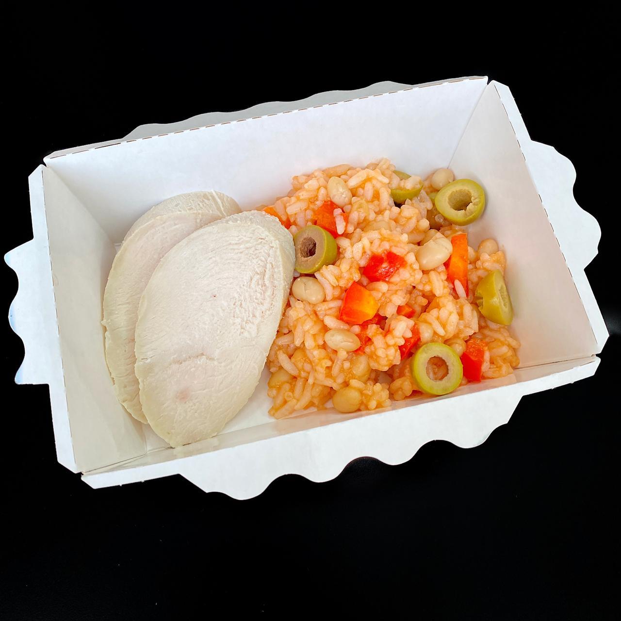 Испанский рис с курицей