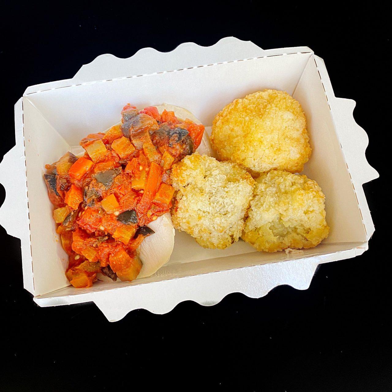 Индейка с итальянским маринадом и картофельные крокеты с белыми грибами