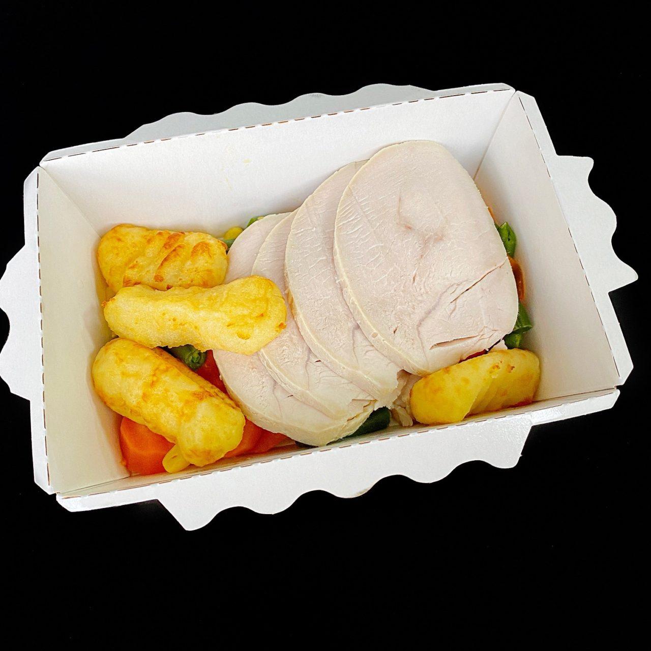 Картофельные ньокки с индейкой и тыквенным соусом